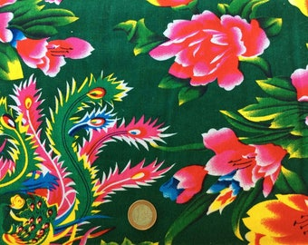 Light cotton twill with Asian dragon print