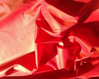 Pure  silk taffetas fabric, red/orange
