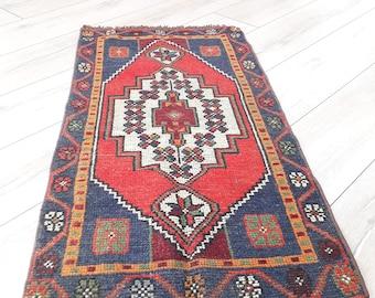 Vintage Oushak Rug  Home  Living Room Office Decor Pile Rug Turkish Kilim Rug Handwoven Anatolian Kilim rug Disstressed Rug Muted Color Rug