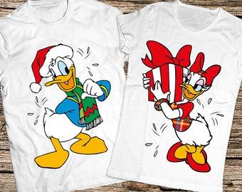 Matching couple Christmas shirts, Donald & Daisy Christmas shirts, Couple Christmas shirts, Couple Christmas gift, Disney Christmas shirts