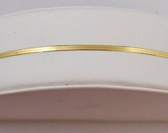 14k Aurafin 7'' Yellow Gold Herringbone Bracelet 1.40 Grams(512883475)