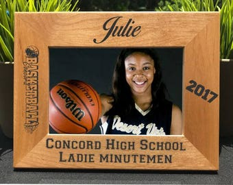 Girls Basketball // Personalized Engraved Photo Frame // Picture Frame // Gift