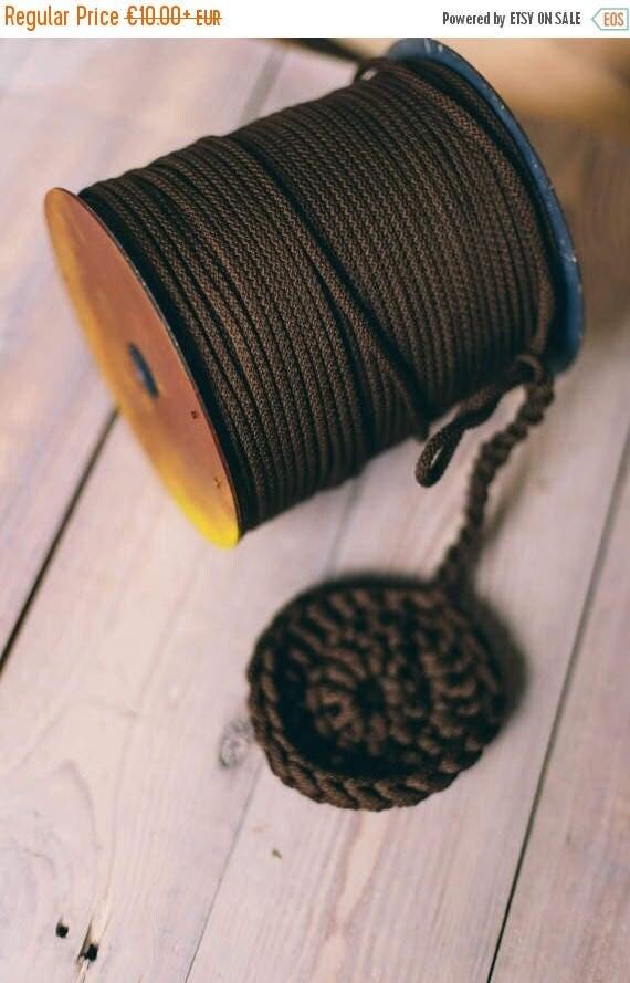 15 % OFF DARK BROWN yarn, diy crafts, craft supplies, craft projects, diy projects, chunky yarn, crochet rope, crochet supplies, cord rope y
