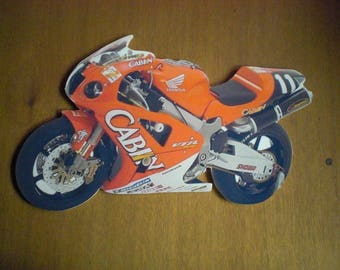 plate decorative motorcycle HONDA (no enamel), personalized wall plaque