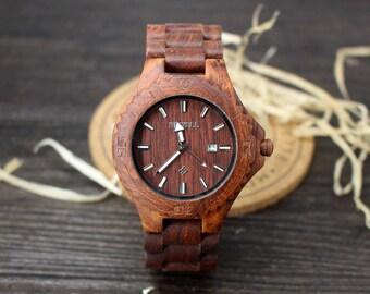 Engraved Watch Men Wooden Watch Boyfriend Gift Personalized Wooden Watch for Men Husband Gift Gifts for Dad Wood Watches Gifts for Him