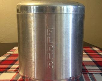 Vintage Aluminum Flour Canitser