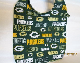 """Green Bay Packers Baby Bibs! """"Packers"""" lettering is in gold sparkle! Great Baby Shower Gift! 100% Cotton. Handmade!Two available Cheeseheads"""