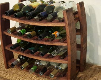 Wine Stave Wine Holder Solid Oak