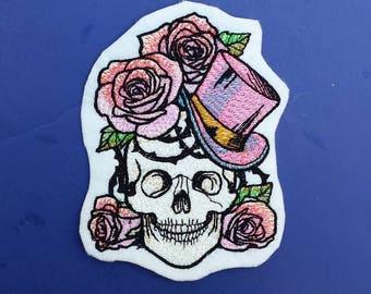 Sugar skull patch, sugar skull applique