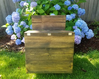 Custom pallet style wood box perfect for weddings and we will add personalization for FREE