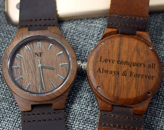 Groom Gifts Ideas Groomsmen Gifts Wooden Watch for Men Wood Watch Personalized Watch Birthday Gifts for Boyfriend Anniversary Gifts for Him