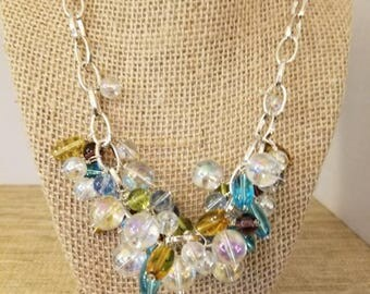 Crystal beads and chain.