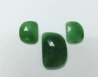 green quartz rose cut loose gwmsone pairs