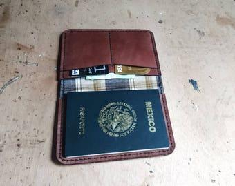 Passport leather cover - leather passport wallet - men's wallet - handmade passport cover -