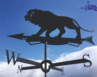 LION 3 Metal Plasmacut Wind Direction Roof Decor