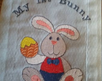 Easter Monogrammed Padded Baby Burp Cloths