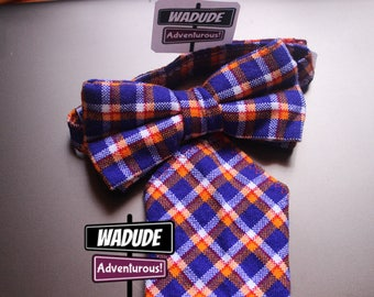 Blue Wadude Bow Tie and Pocket Square