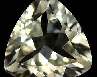 Golden Beryl Loose Gemstone - 1.14 Carat Trillion Facet Brazil 7.5x7.5mm