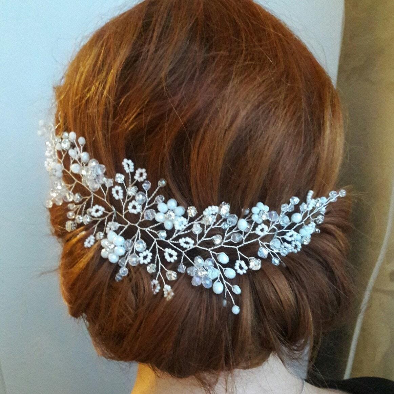 Babys Breath Headpiece Bridal Hair Piece Gypsophila Hair Vine