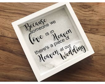 Wedding remembrance , heaven at our wedding, heaven memory, wedding memory, lost loved one, wedding loved one, heaven wedding,