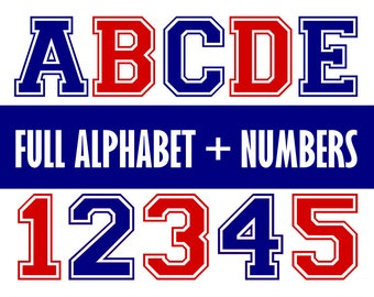 Varsity font svg, college font svg, sports font svg, varsity letters svg, varsity numbers svg, svg files, svg, cricut, silhouette