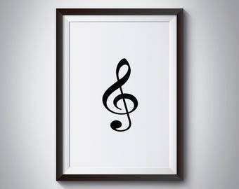Music notes print, Music Notes Poster, Music Wall Art, Minimalist, Home Decor, Wall Art, Minimalist Print, Minimalist Wall Art