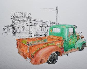 American truck sketch