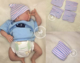 Set of Four (4) Micro Preemie Hospital Hats