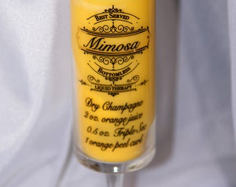 8 oz. Mimosa and Mandarin Soy Candle in Mimosa glass