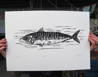Mackerel limited edition screen print