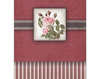 1 sheet of 21 x 28 cm rose 814 collage decoupage rice paper