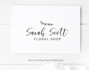 Floral Shop Logo, Photography Branding, Watermark Stamp, Premade Logo Template, Photographer Business Logo, Florist Logo, DIY Logo, 091
