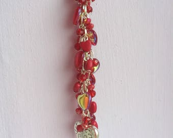 Red Heart Bag Charm / Purse Charm FREE UK P&P