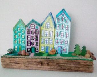 Miniature Neighborhood of Tiny Houses