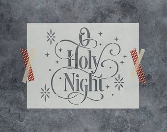 "O Holy Night Stencil - Reusable DIY Craft Christmas Stencils of ""O Holy Night"""