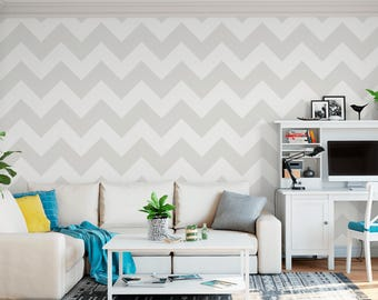 Chevron Vertical Stencil - Reusable DIY Craft Stencils of a Chevron Pattern Design