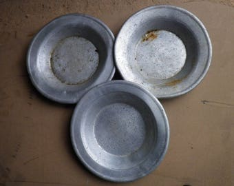 ussr / soviet army military aluminium mess plates / total of 3