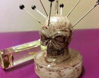 7pins skull candle - voodoo/hoodoo