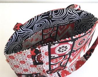 Medium Tote Bag, Project Bag, Knitting Bag, Knitting Project Bag,