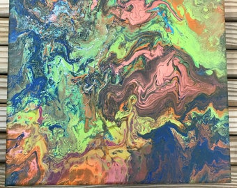 Dirty Pour Painting (psychedelic)