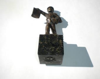 """Schmidt-Hofer Bronze Sculpture """"Zeitung"""""""