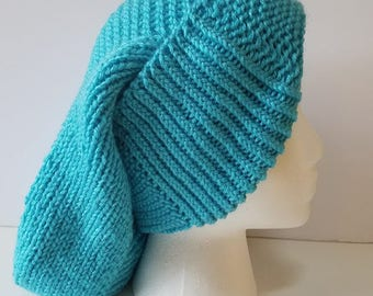 Light Blue Long Slouchy Hat