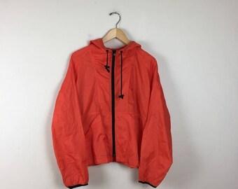 90s Orange Track Jacket Size Large, GAP Jacket, Neon Orange Jacket