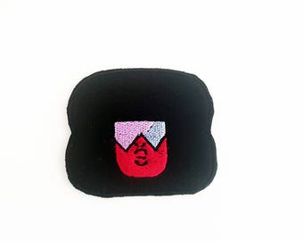 Garnet Patches, Steven Universe Patch, Garnet's Face Patch, Crystal Gem Patch, Steven Universe Pin, Iron On Garnet Patch