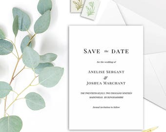 EMILY Save the Date Cards - DIY Printable Template