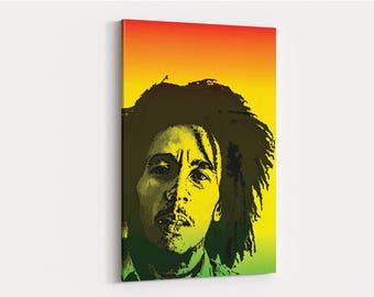 Bob Marley Canvas Wall Art Print