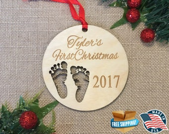 Baby Christmas Ornament *** Baby's First Christmas *** Welcome Baby *** Newborn Christmas Gift  *** Personalized Christmas Ornament ***