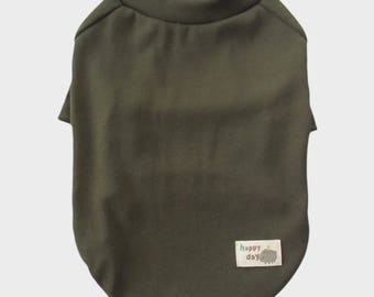 Green Raglan Sleeves 1x1 Rib Knit T- Shirt Dog Top Dog Clothing Made in USA