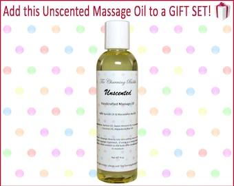 Massage Oil, Unscented, Body Oil, Massage Oils, Massage, Natural Massage Oil, Natural Body Oil, Spa Gift Set, Spa Set, Gift Set, Spa Gift