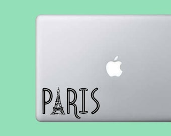 Paris Decal - Vinyl Decal Sticker - Cute - Eiffel Tower - French - Laptop Sticker - Keyboard - Trackpad - Fun - Phrase - Word - Car Decal